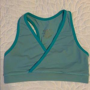 🍋lululemon deep v sports bra size 6 - blue